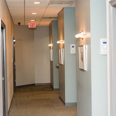 The corridors of our Advanced EndoCare dental office