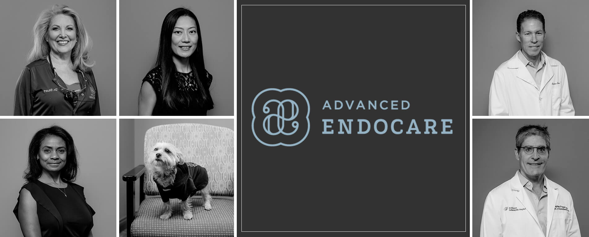 A collage of our Advanced EndoCare specialists smiling
